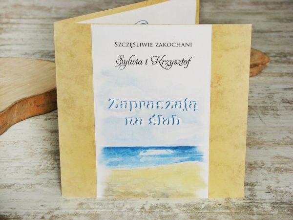 Zaproszenie ślubne morze i plaża