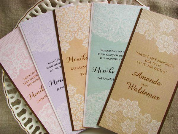 Zaproszenia ślubne – drukowana koronka