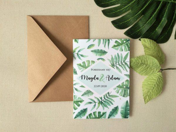 Zaproszenia Tropikalne Liście