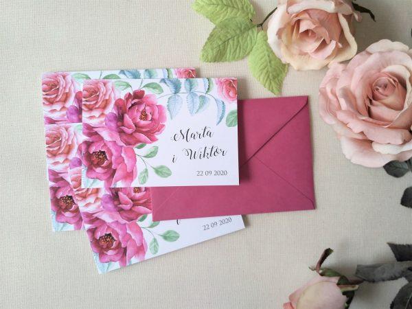 Zaproszenia  – wielkokwiatowe peonie