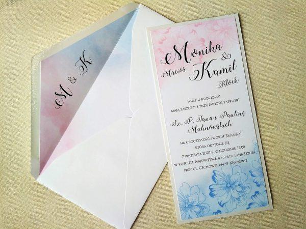 Zaproszenia ślubne – dwustronne pastel