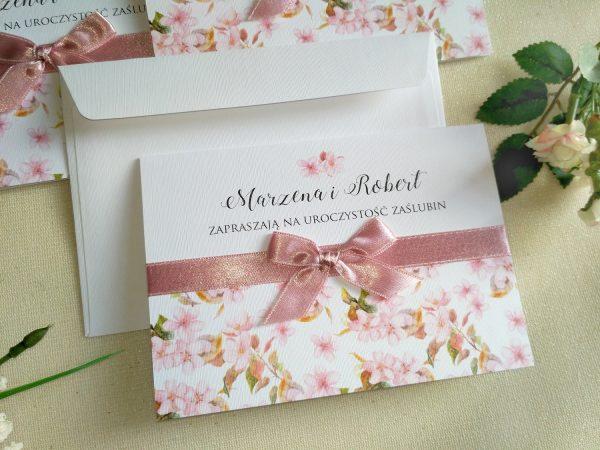 Zaproszenie ślubne – kwitnące jabłuszko