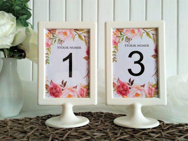 Numery stołów w ramce