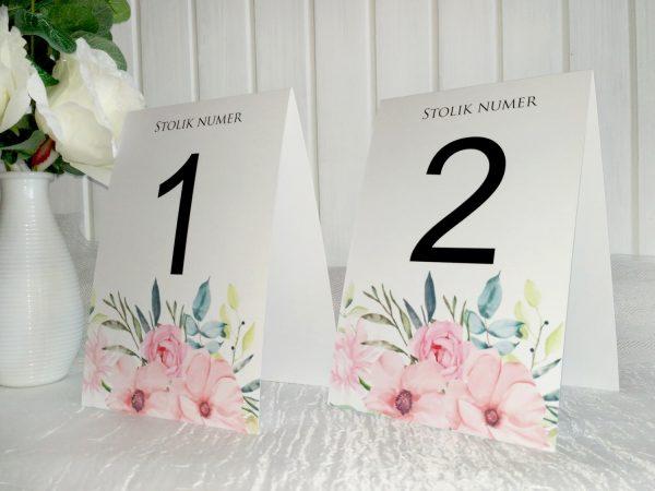 Numery stołów proste