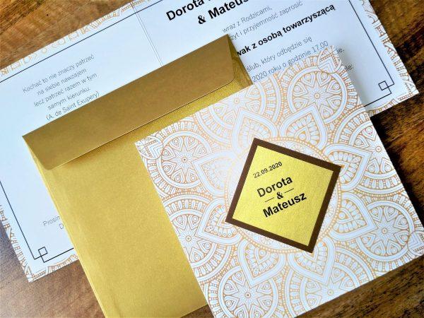 Zaproszenia ślubne – Geometric