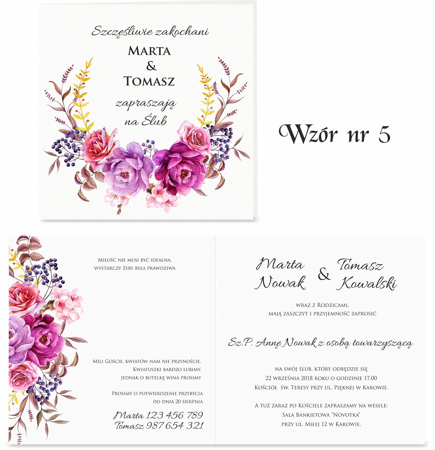 Zaproszenia ślubne Trendy 2018 Artcard