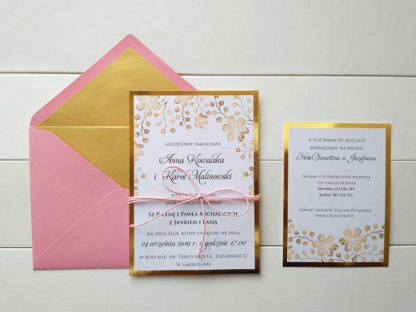 Zaproszenia romantyczne i eleganckie