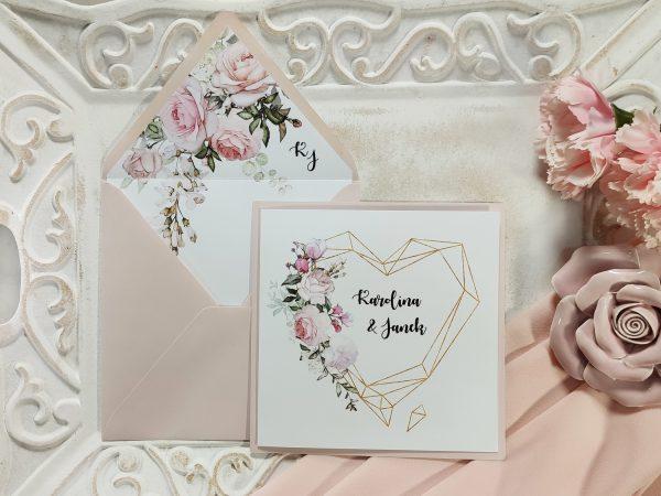 Zaproszenia kwiatowe pastelowe