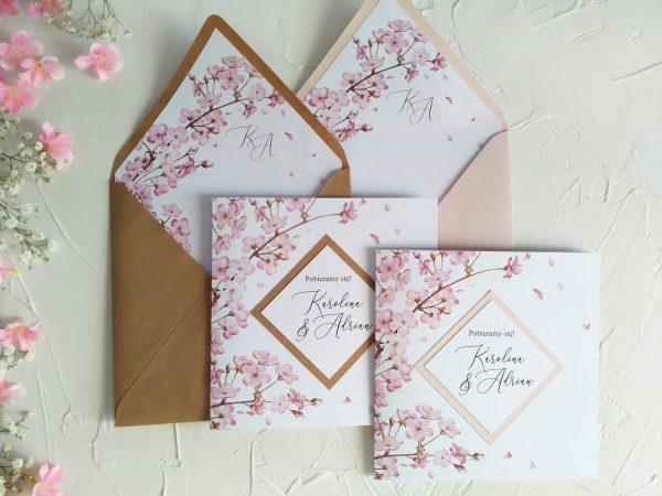 Zaproszenia – kwitnące eko lub róż