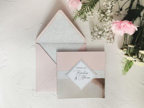 Zaproszenia ślubne GLAMOUR z lustrem