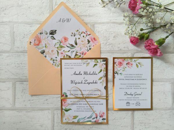 Zaproszenia summer floral