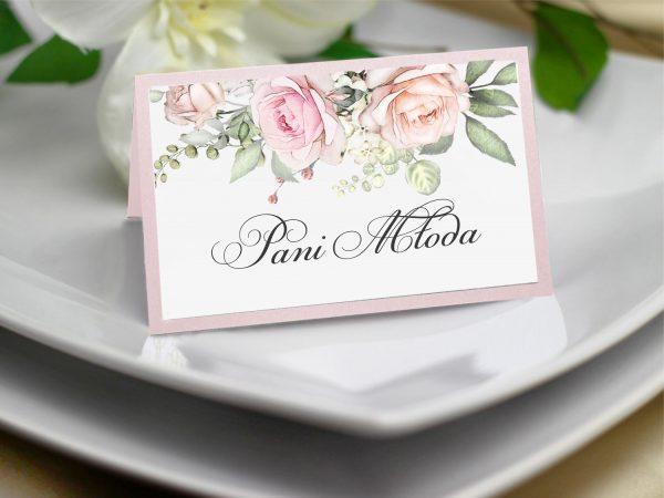 Winietki różowe kwiaty