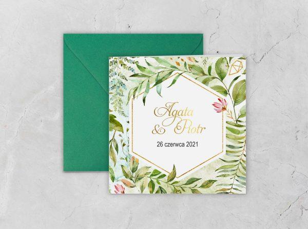 Zaproszenia ślubne klasyczne – botaniczne