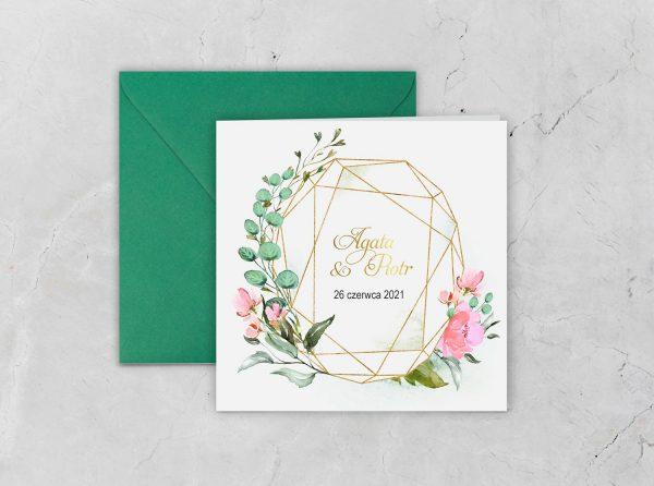 Zaproszenia ślubne – geometryczne kształty