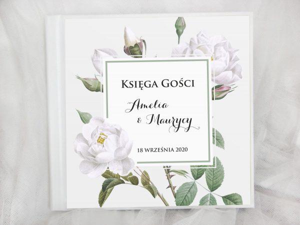 Księga gości białe róże