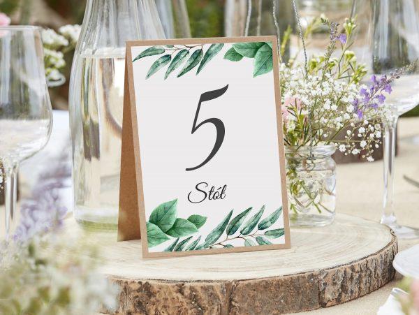 Numery stołów podklejone