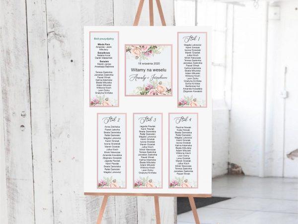 Plan stołów – kwiaty